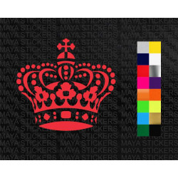 Crown decal sticker for cars, bikes, laptops