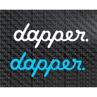 Dapper decal stickers for Cars, motorcycles, laptops
