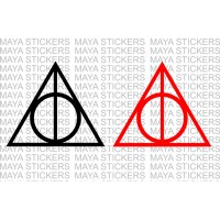 Deathly Hallows Harry porter symbol sticker (Pair of 2)