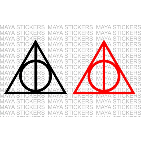 Deathly Hallows Circle And Triangle Symbol Decal Stickers
