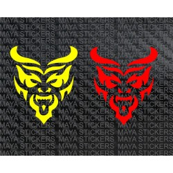 Devil tribal design sticker decal for cars, bikes, laptops ( Pair of 2 stickers)