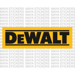 DeWALT power tools logo stickers for tool boxes, cars, bikes