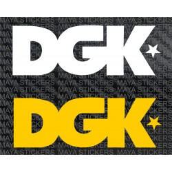 DGK logo decal stickers ( Pair of 2 )
