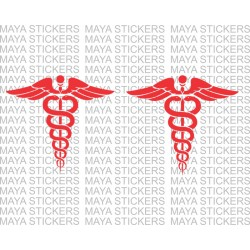 Doctor emblem stickers for scooty, cars, and bikes ( Pair of 2 )