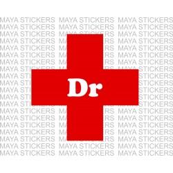Doctor logo sticker in IMA approved design for cars, bikes, laptops