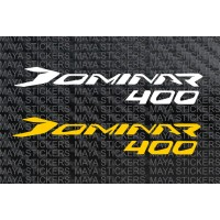 Dominar 400 logo decal stickers ( Pair of 2 stickers)