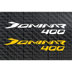Dominar 400 logo decal stickers for Bajaj dominar and helmets