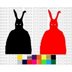 Donnie Darko frank decal sticker for cars, bikes, laptops