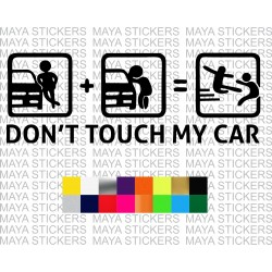 Dont touch my car sticker in custom colors and sizes