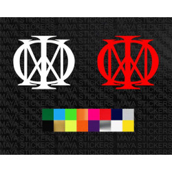 Dream theater band logo sticker for cars, bikes, laptops