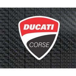 Ducati corse layered decal motorcycle and helmet stickers