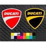 Ducati new shield logo sticker in dual colors