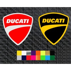 Ducati new shield logo sticker in dual colors
