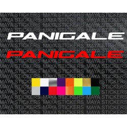Ducati Panigale logo sticker for motorcycles and helmets