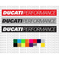 Ducati performance logo stikcer in custom color combination