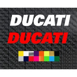 Ducati text logo deacal stickers for bikes and helmet