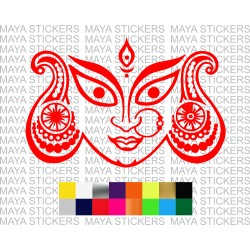 Goddess maa Durga devi stickers for cars, bikes, laptops, walls