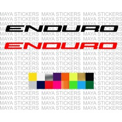 Enduro logo stickers for all Adventure bikes and helmets