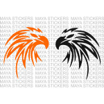 Eagle Falcon head tribal pattern decal sticker (Pair of 2)