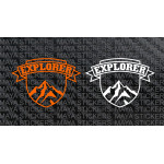 Explorer Mountain stickers for Offroad bikes & SUVs