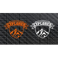 Explorer Mountain stickers for RE Himalayan, Offroad bikes & SUVs