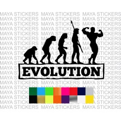 Evolution body building decal sticker for cars, bikes, laptops and wall