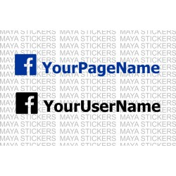 Facebook User Name / Page Name custom stickers
