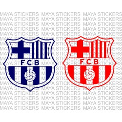 FC Barcelona decal sticker in single color