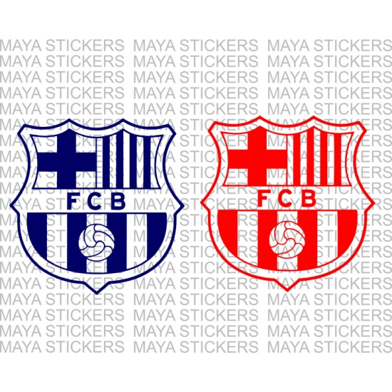 Fc Barcelona Stickers.Fc Barcelona Decal Sticker In Single Color