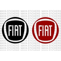 Fiat new logo decal stickers ( Pair of 2 Stickers )