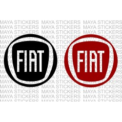 Fiat new round  logo decal stickers ( Pair of 2 Stickers )