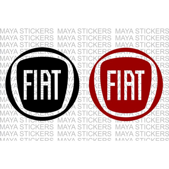 fiat new round logo decal stickers. Black Bedroom Furniture Sets. Home Design Ideas