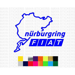 Fiat Nurburgring race track logo sticker for all fiat cars