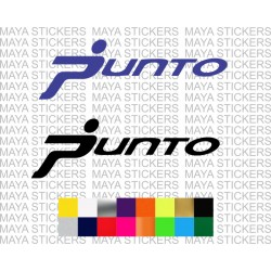Fiat punto car logo stickers in custom colors and sizes