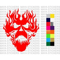 Flaming monster skull decal sticker for cars,bikes, laptops, helmets