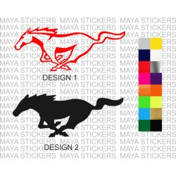 Ford mustang logo stickers in custom colors and sizes ( Pair of 2 mirrored sticker )