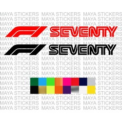Formula 1 seventy years logo decal sticker for cars, bikes, laptops, wall