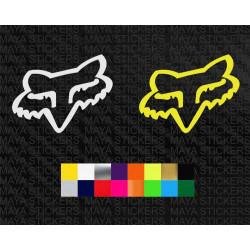 Fox racing fox head logo sticker for motorcycles and helmets
