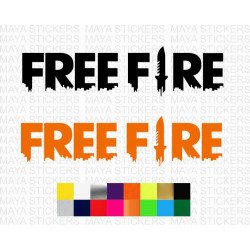 Free Fire logo sticker for mobiles, bikes, cars and others