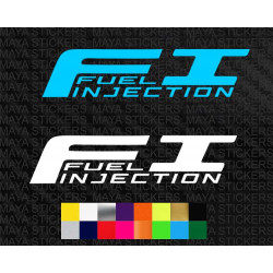 FI Fuel Injection logo stickers for motorcycles
