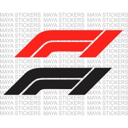 New formula 1 logo decal sticker in custom colors and sizes