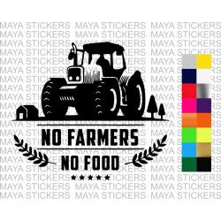No farmer, No food decal sticker for cars, bikes, laptops,