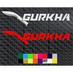 Force Gurkha logo sticker in custom colors and sizes