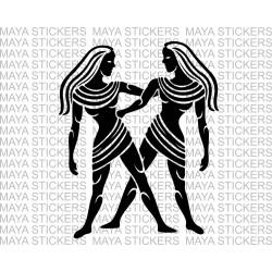Gemini astrological sign stickers