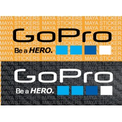 GoPro logo stickers for Bikes, helmets, cars