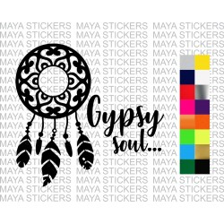 Gypsy Soul decal sticker for cars, bikes, laptops
