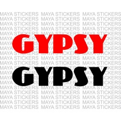 Maruti Suzuki gypsy logo sticker