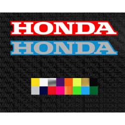 Honda text logo decal sticker with background for bikes and helmets