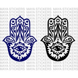 Hamsa hand decal sticker for Bikes, Cars and Walls