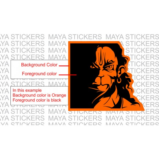 Angry Hanuman Custom Color Stickers